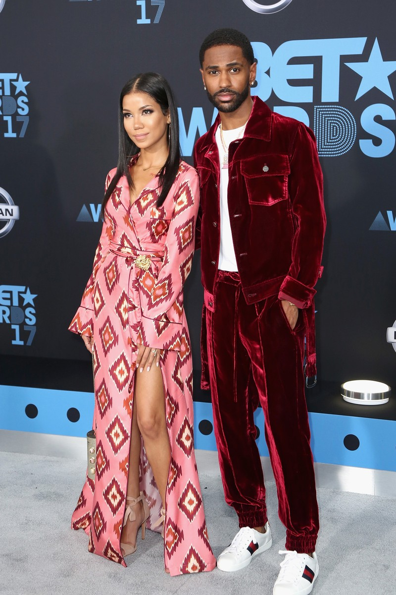 Jhene Aiko and Big Sean at the 2017 BET Awards at Microsoft Square on June 25, 2017 in Los Angeles.
