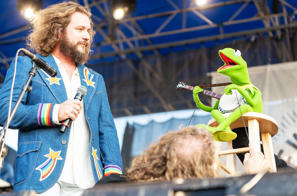 Jim James and Kermit the Frog