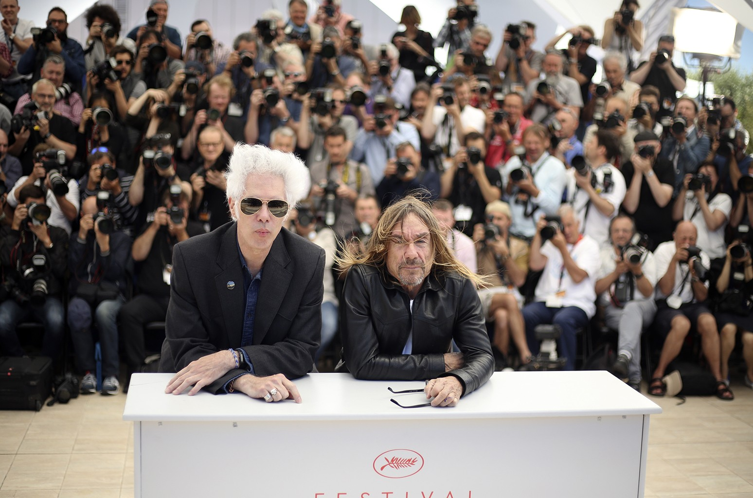 Jim Jarmusch and Iggy Pop at Cannes
