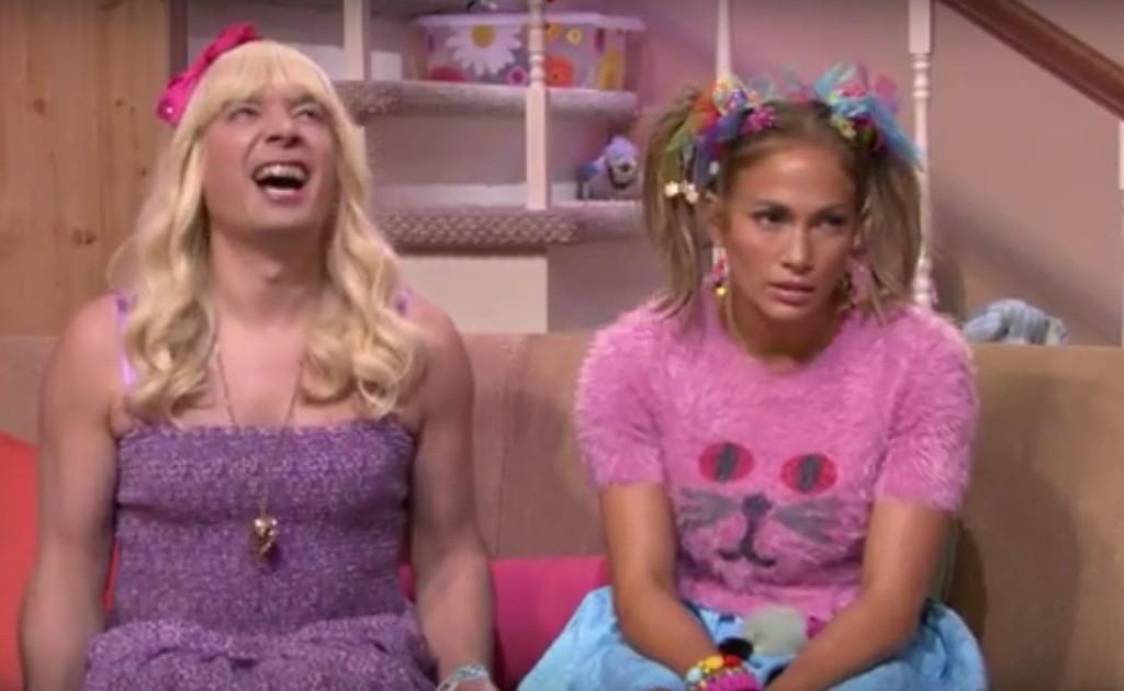 """Jimmy Fallon and Jennifer Lopez in """"Ew!"""""""