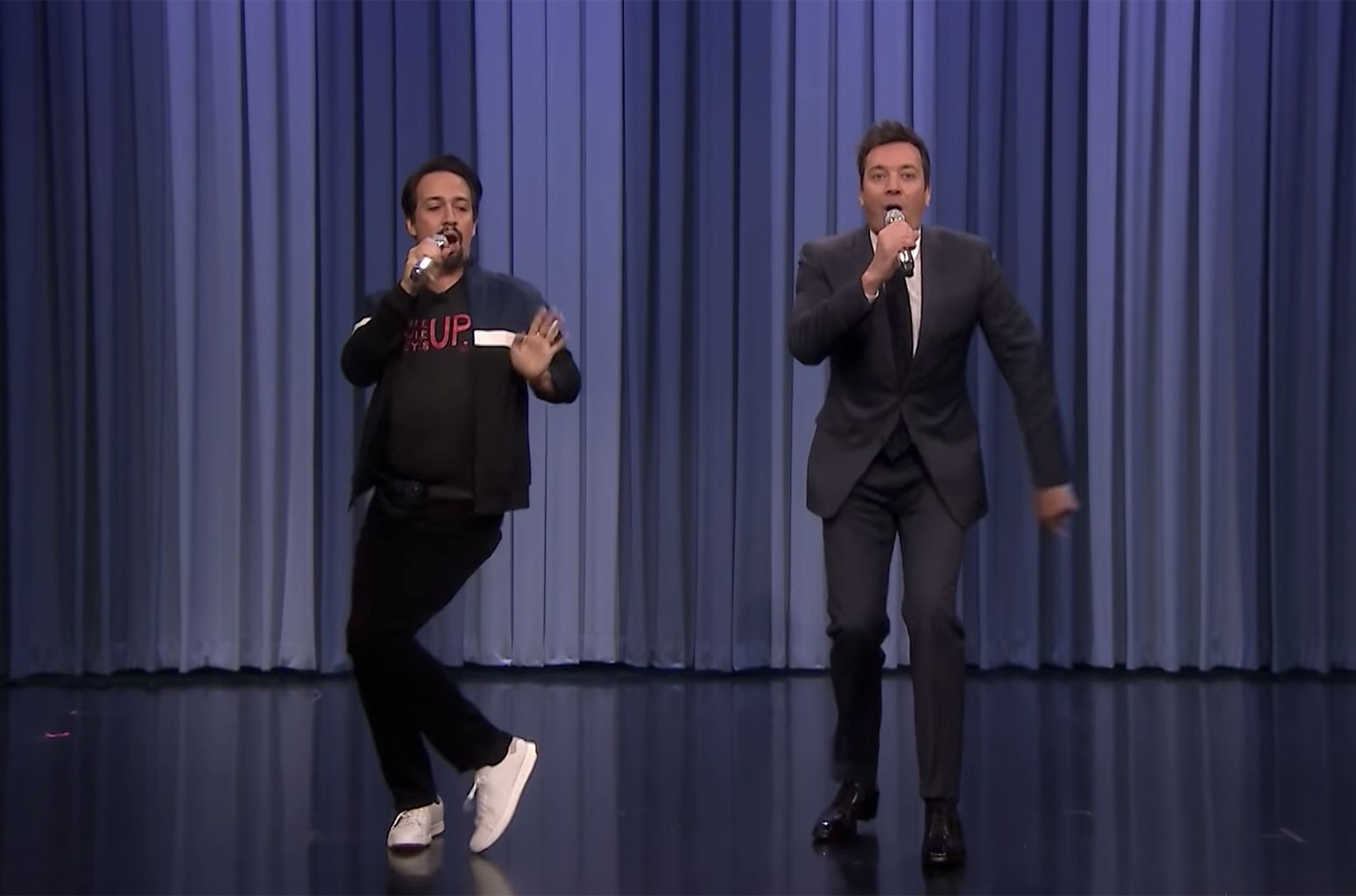 Jimmy Fallon & Lin-Manuel Miranda Sing Holiday Parodies