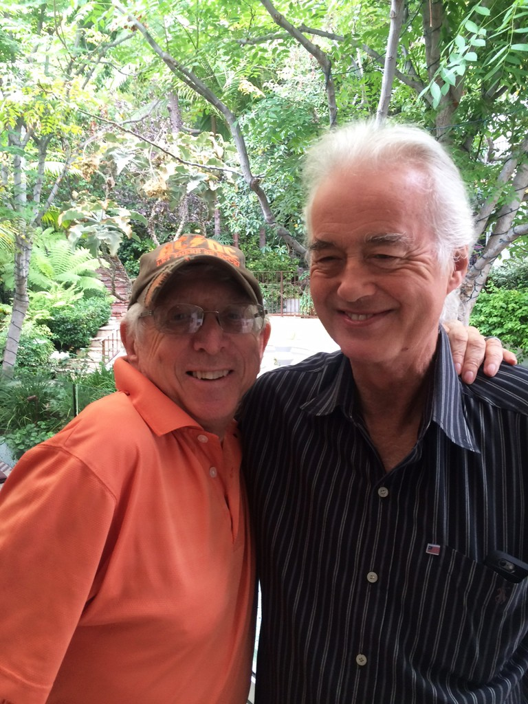 Jimmy Page and Jerry Greenberg