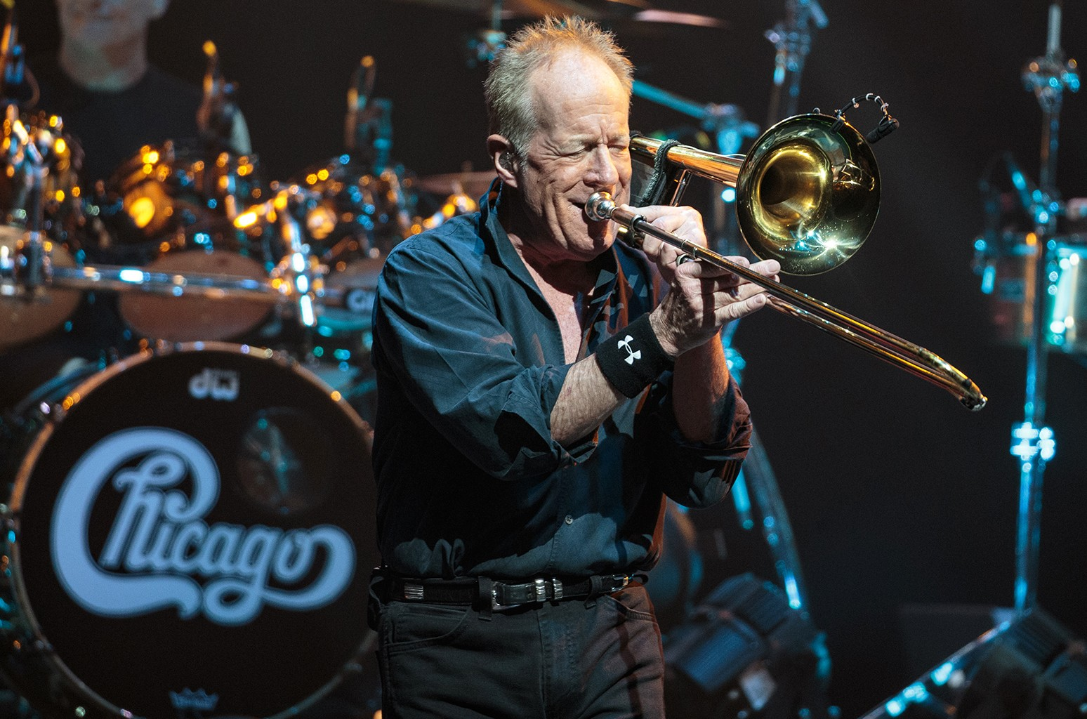Jimmy Pankow of Chicago performs  at ACL Live on May 27, 2016 in Austin, Texas.