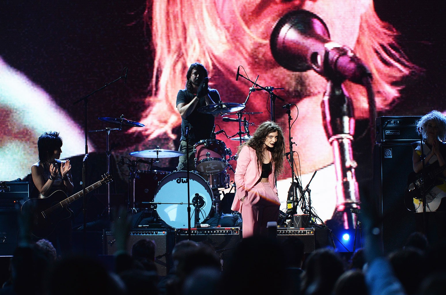 Joan Jett, Dave Grohl of Nirvana, Lorde and St. Vincent