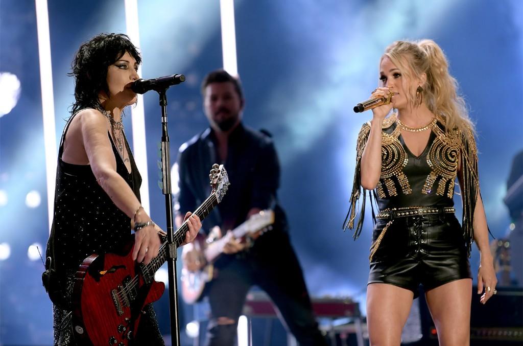 Joan Jett and Carrie Underwood