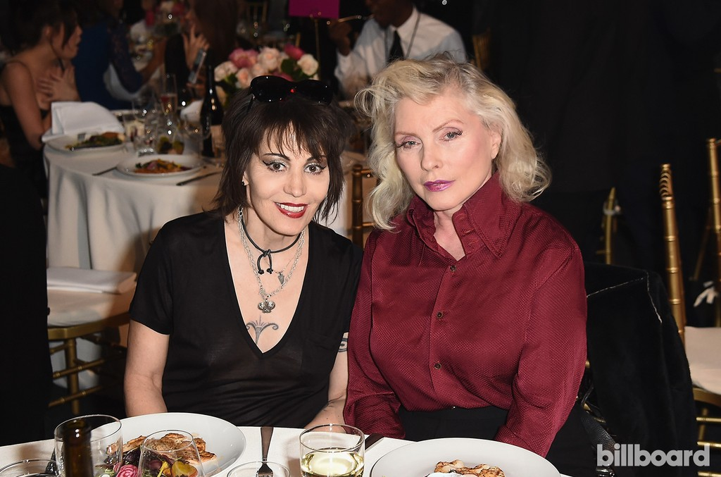 Joan Jett and Debbie Harry attend the Billboard Women in Music 2016 event on Dec. 9, 2016 in New York City.