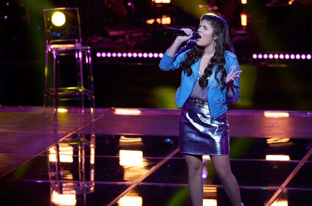 Joana Martinez on The Voice on Oct. 29, 2019.