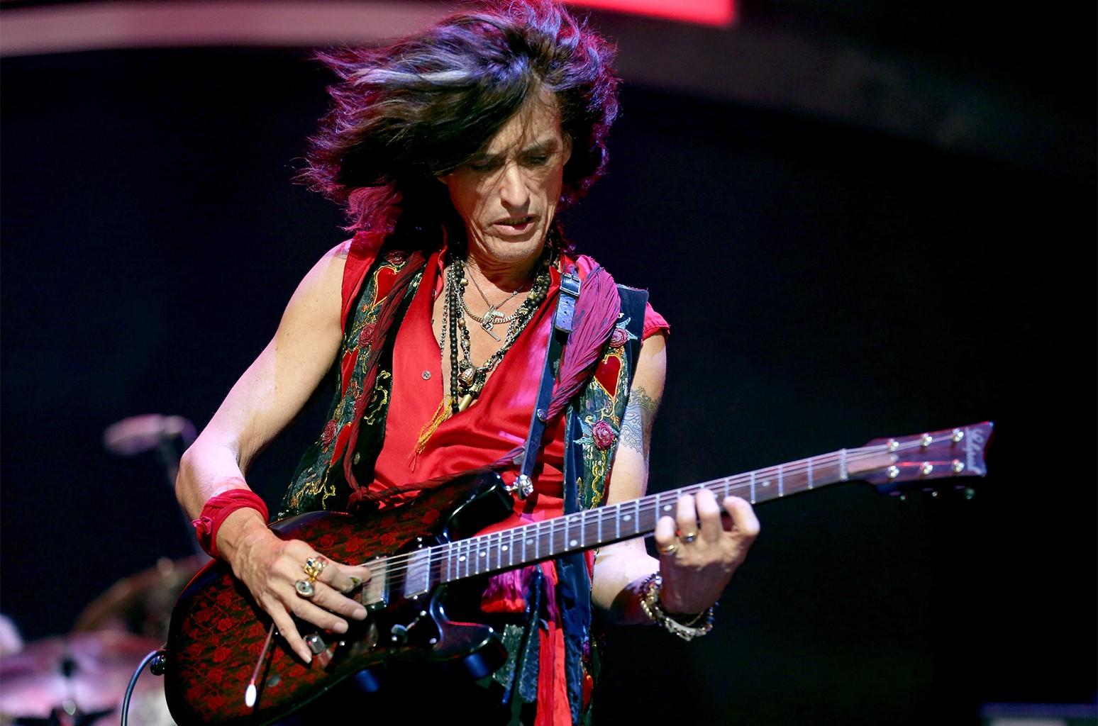 Joe Perry of Aerosmith performs onstage during the 2012 iHeartRadio Music Festival at the MGM Grand Garden Arena on Sept. 22, 2012 in Las Vegas.