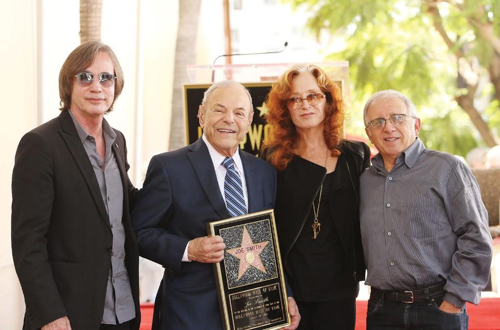 Jackson Browne, Joe Smith, Bonnie Raitt and Irving Azoff