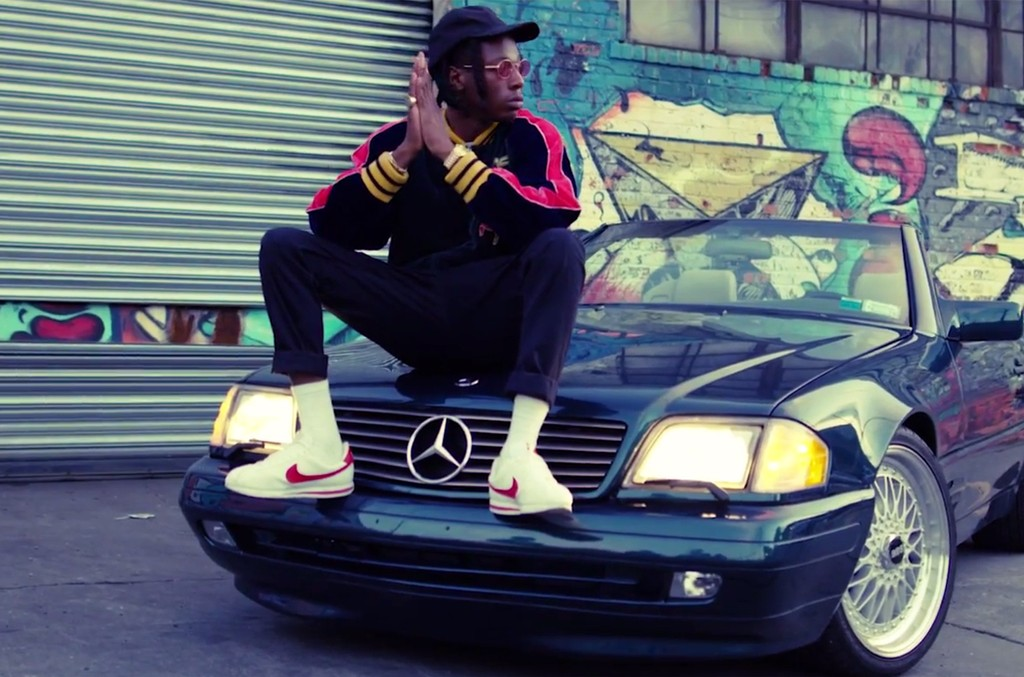 "Joey Badass in the video for ""500 Benz"""