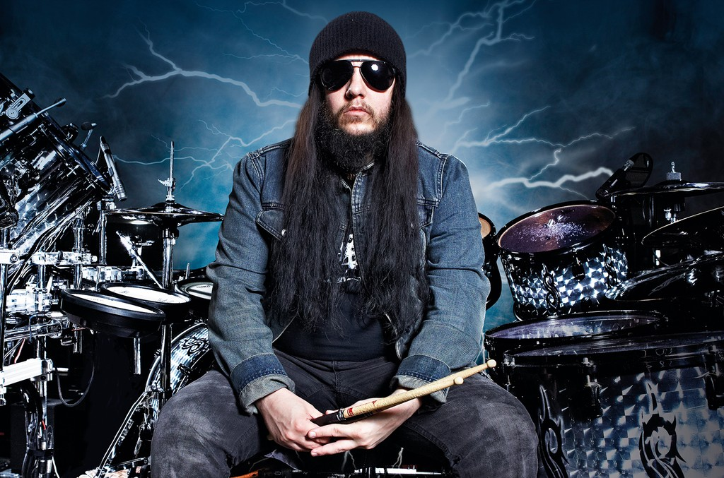 Joey Jordison photographed at the Brixton Academy