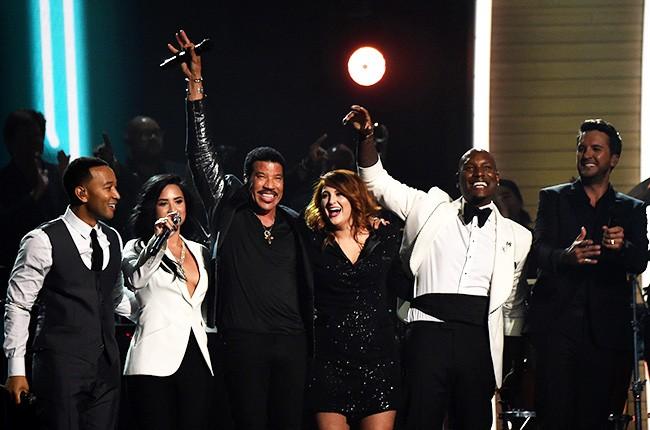 John Legend, Demi Lovato, Lionel Richie, Meghan Trainor, Tyrese Gibson, and Luke Bryan
