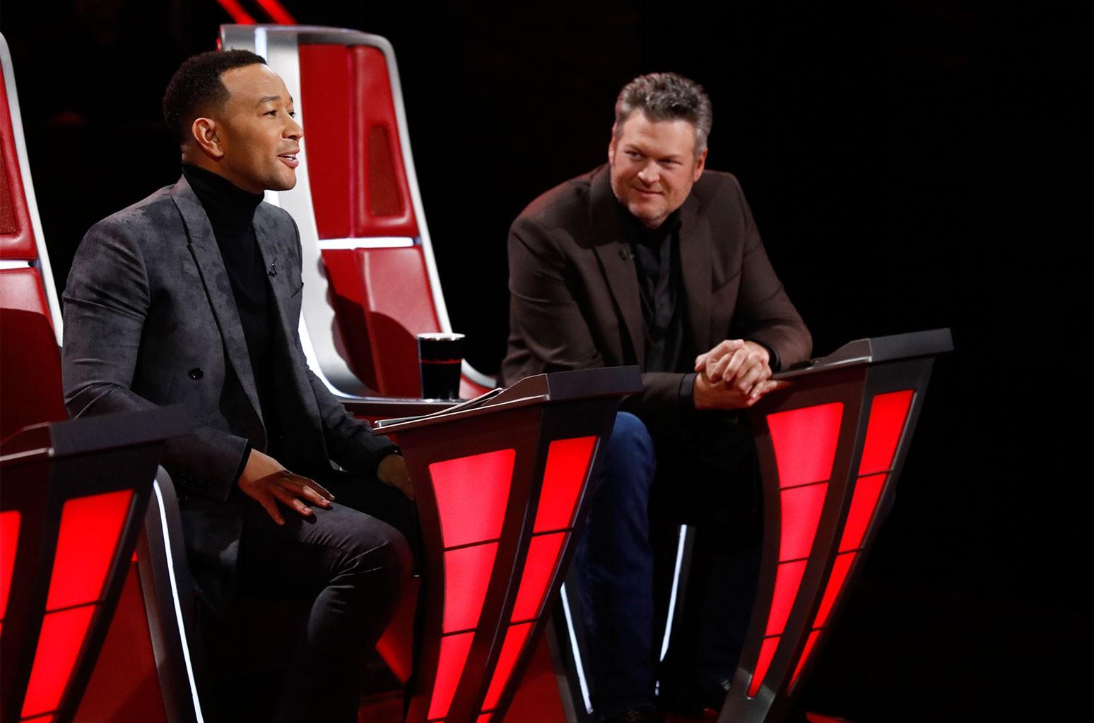 John Legend and Blake Shelton