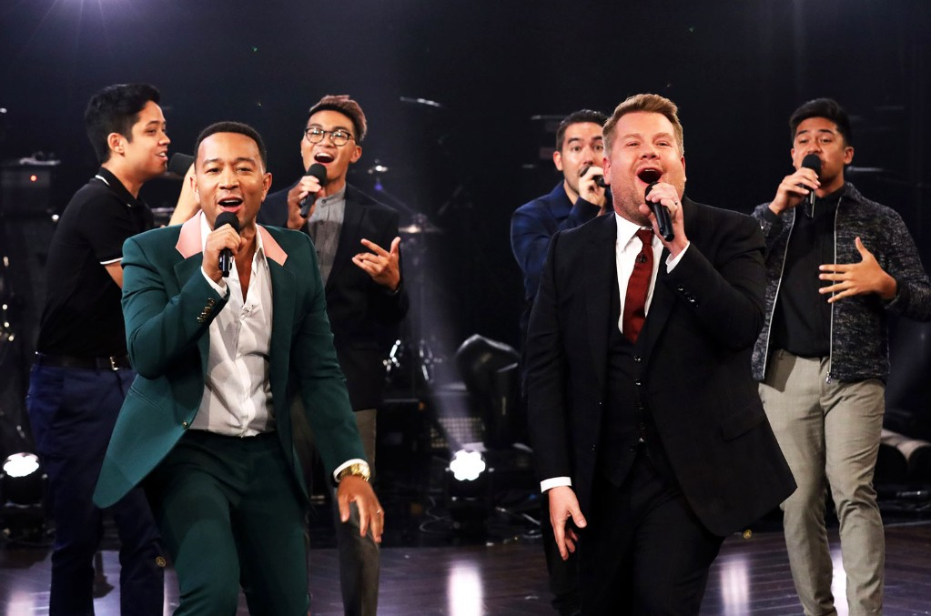 John Legend and James Corden