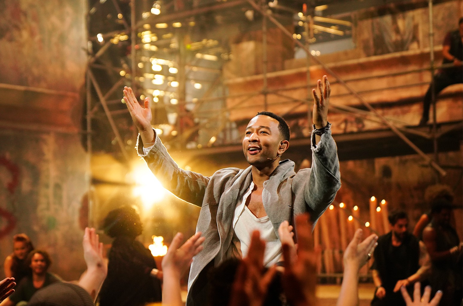 John Legend in rehearsals for Jesus Christ Superstar Live!