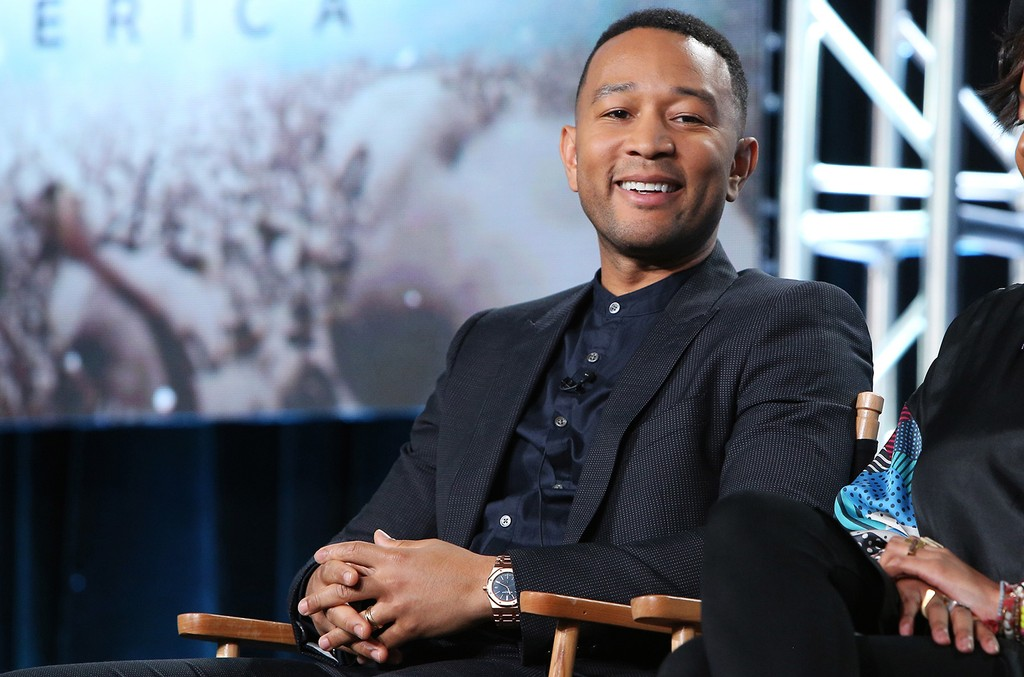 "John Legend speaks during the ""Underground"" panel at the WGN America Winter TCA at Langham Hotel on Jan. 13, 2017 in Pasadena, Calif."