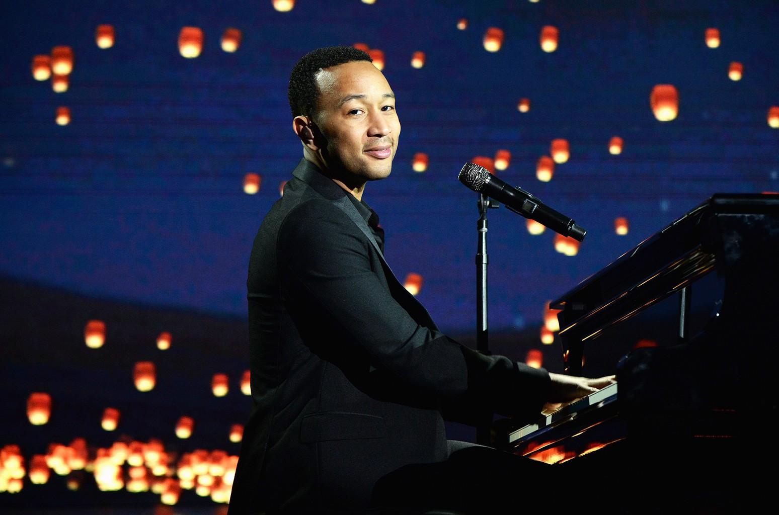 John Legend performs in Los Angeles