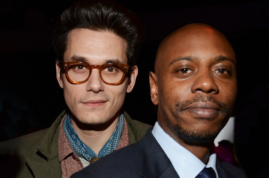 John Mayer and Dave Chappelle attend the after party for The Comedy Central Roast of Justin Bieber at Sony Pictures Studios on March 14, 2015 in Los Angeles.