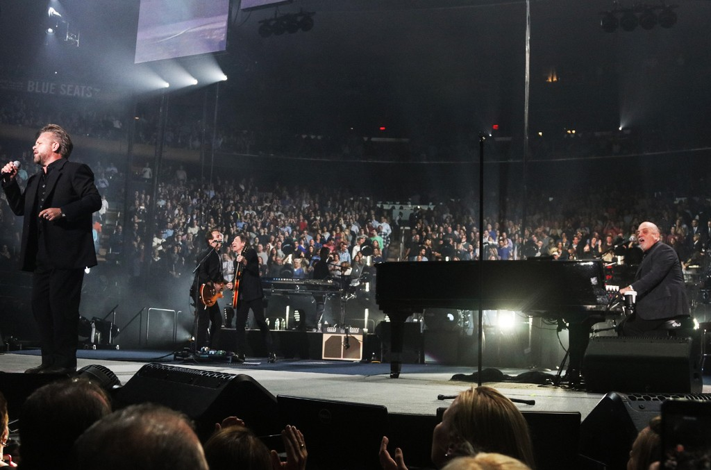 John Mellencamp performs with Billy Joel at Joel's 39th consecutive sold out show at  Madison Square Garden on March 3, 2017 in New York City.