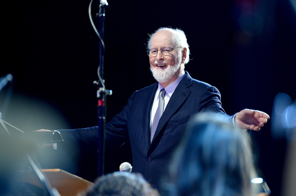 Composer John Williams performs onstage during Ambassadors for Humanity Gala Benefiting USC Shoah Foundation at The Ray Dolby Ballroom.