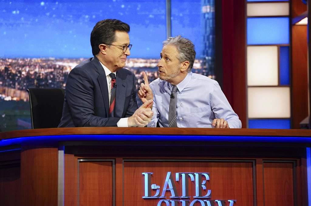 Jon Stewart on The Late Show with Stephen Colbert on Feb. 27, 2017.