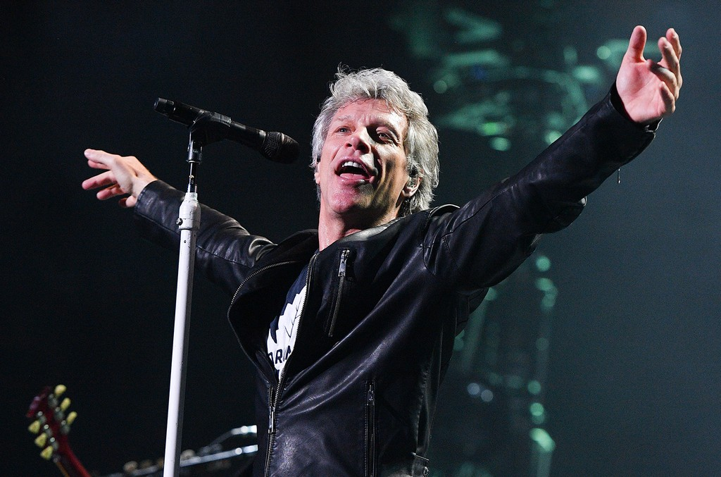 Jon Bon Jovi performs live at the Air Canada Centre on April 10, 2017 in Toronto, Canada.  (Photo by George Pimentel/Getty Images)