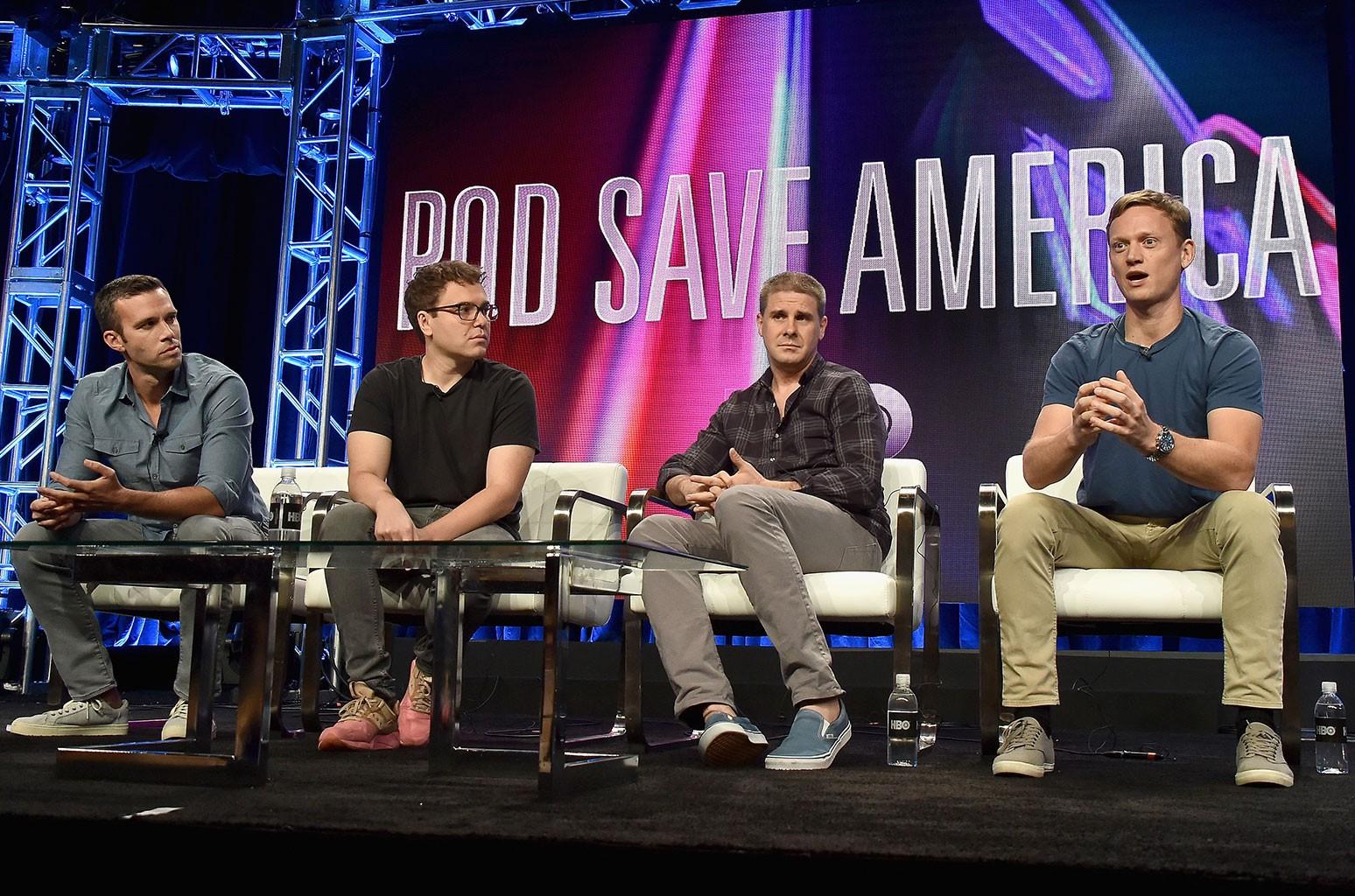 Jon Favreau, Jon Lovett, Dan Pfeiffer and Tommy Vietor
