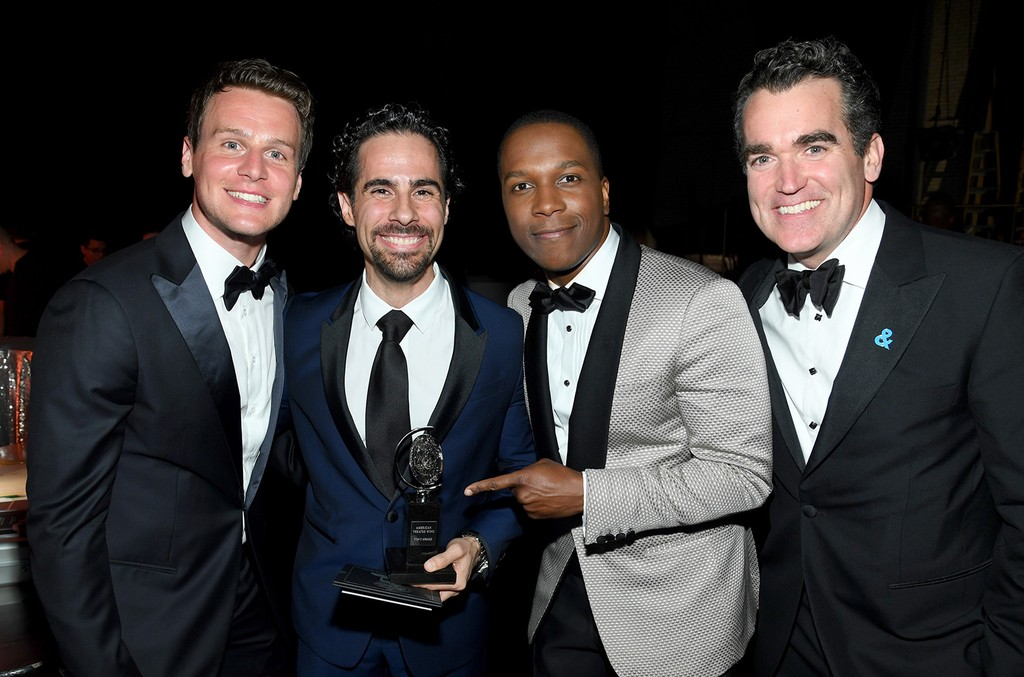 Jonathan Groff, Alex Lacamoire , Leslie Odom Jr. and Brian d'Arcy James attend the 2017 Tony Awards at Radio City Music Hall on June 11, 2017 in New York City.