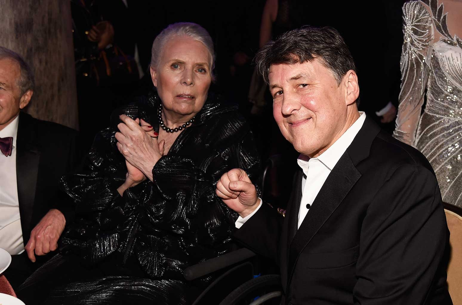 Joni Mitchell and director Cameron Crowe attend Pre-Grammy Gala and Salute to Industry Icons Honoring Debra Lee at The Beverly Hilton on Feb. 11, 2017 in Los Angeles.