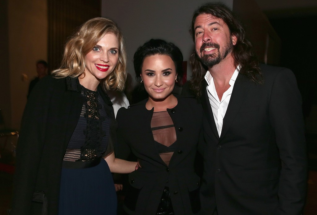 Jordyn Blum, Demi Lovato and Dave Grohl