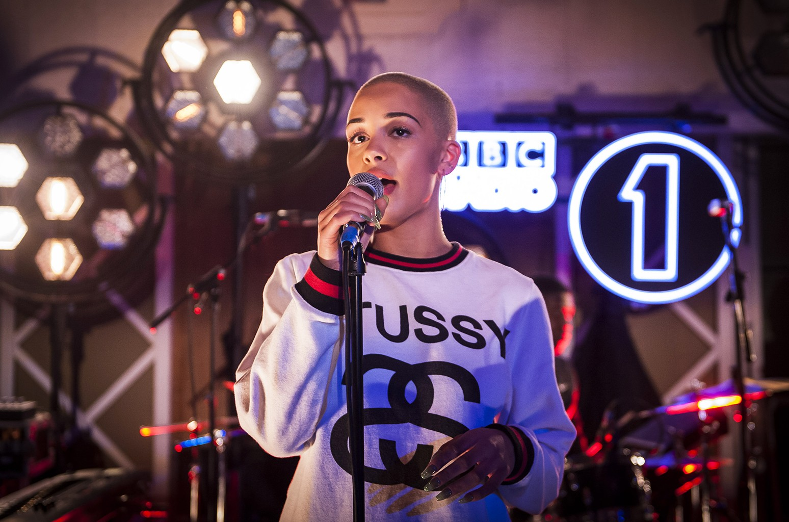 Jorja Smith performs at Radio 1's Future Headliners Live Music Event at Maida Vale Studios in London.