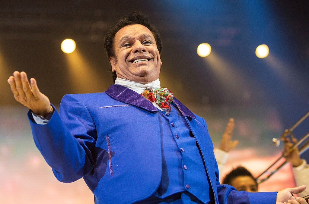 Juan Gabriel performs during Volver 2015 Tour at Viejas Arena on Feb. 6, 2015 in San Diego.