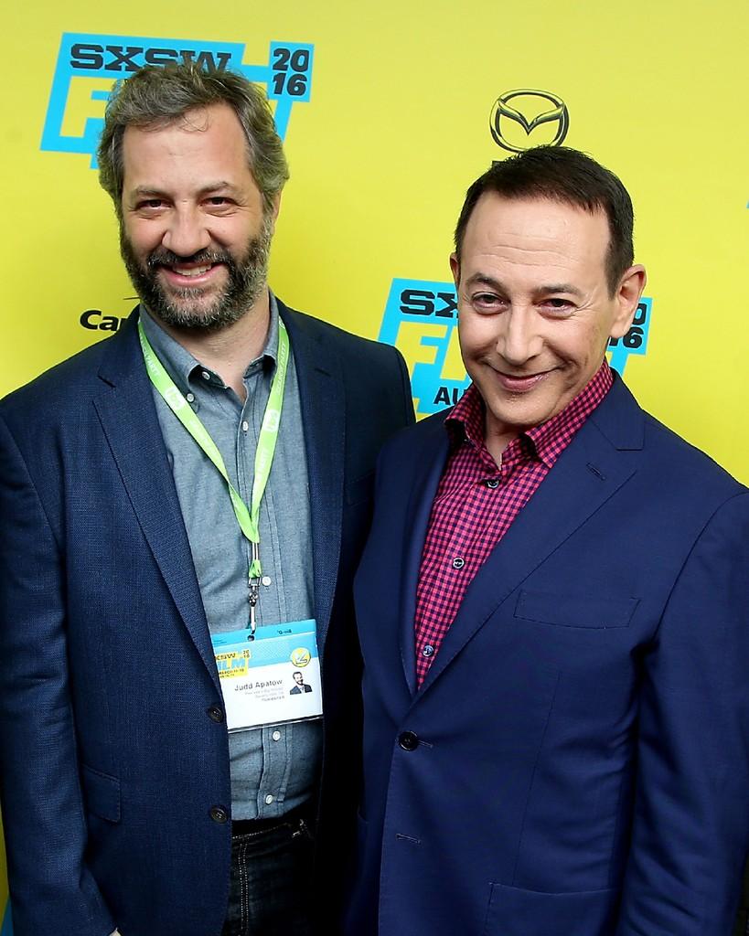 "Judd Apatow and Paul ""Pee-Wee Herman"" Reubens 2016"