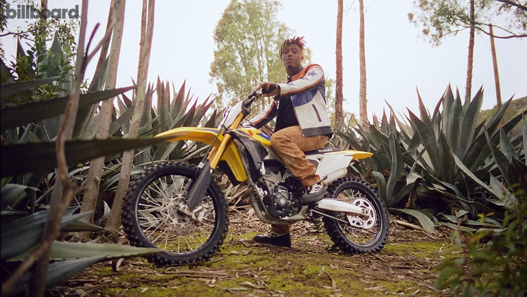 <p>Juice WRLD photographed on Feb. 13, 2019 in Los Angeles. Styling by Jason Rembert. Juice WRLD wears a Beautiful Fül jacket, Handmade Rust pants and Both Paris shoes.&nbsp&#x3B;Suzuki RM-Z250 Courtesy of Suzuki Motor of America, Inc.</p>