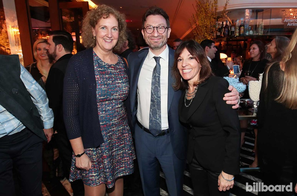 EVP, Business Affairs & General Counsel Julie Swidler and guests attend 2017 Billboard Power 100 - Inside at Cecconi's on Feb. 9, 2017 in West Hollywood, Calif.