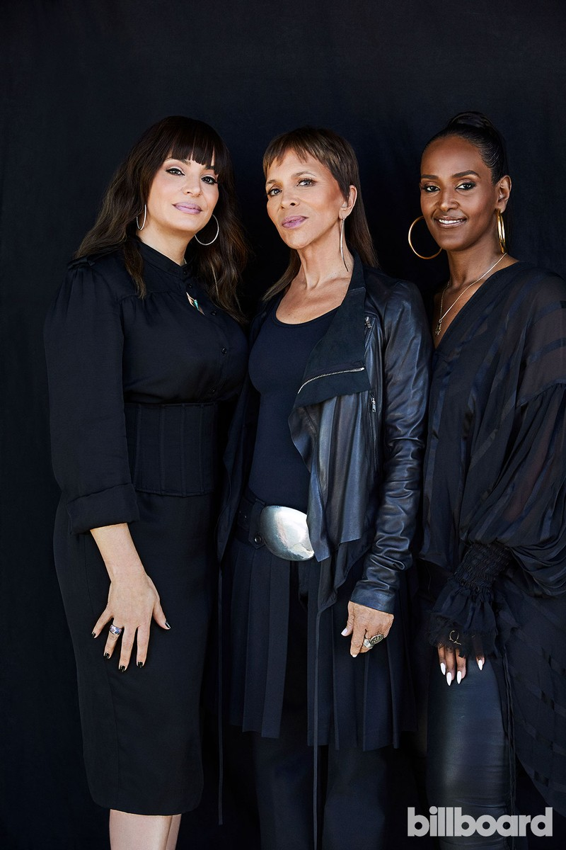 Juliette Jones, Sylvia Rhone and Ethiopia Habtemariam