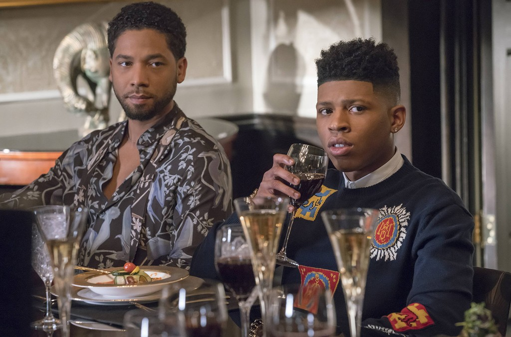 """Jussie Smollett and Bryshere Gray in the """"Civil Hands Unclean"""" episode of Empire airing on May 3, 2016 on Fox."""