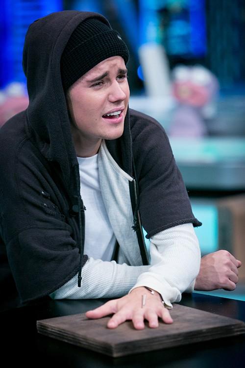 Justin Bieber attends 'El Hormiguero' in Madrid