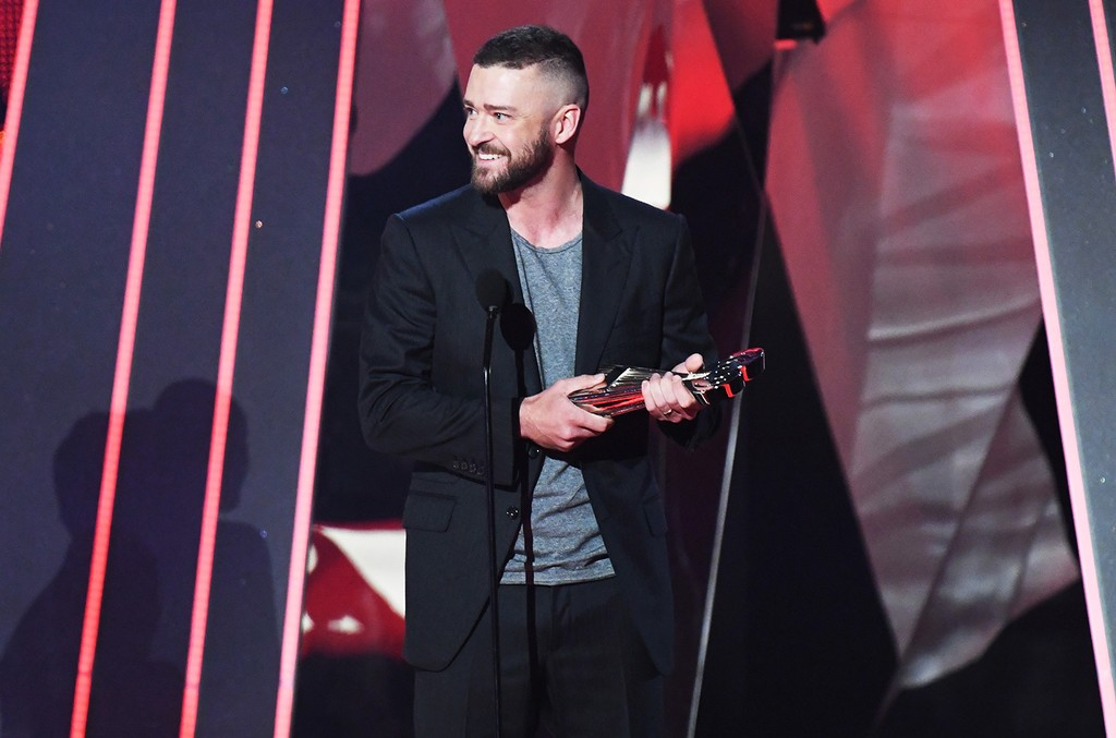 Justin Timberlake accepts the award for Song of the Year for 'Can't Stop the Feeling' onstage at the 2017 iHeartRadio Music Awards which broadcast live on Turner's TBS, TNT, and truTV at The Forum on March 5, 2017 in Inglewood, Calif.