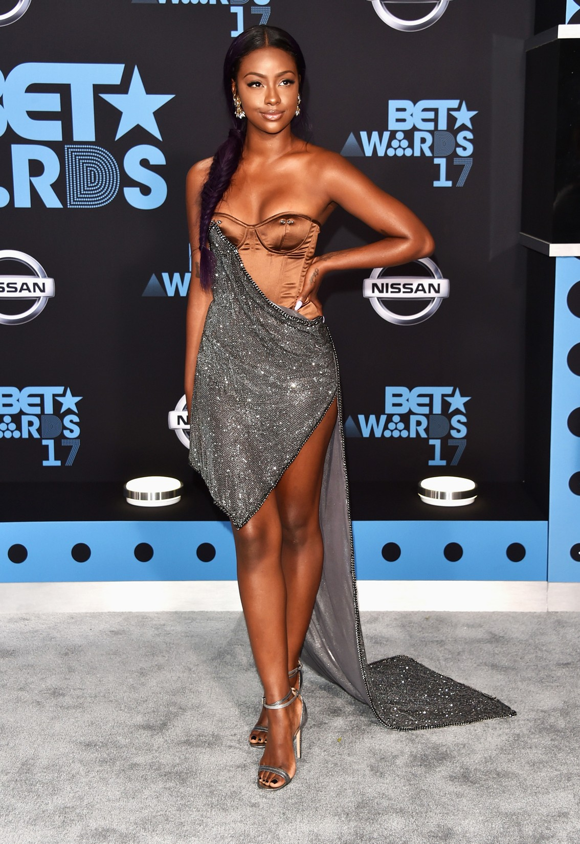 Justine Skye at the 2017 BET Awards at Microsoft Square on June 25, 2017 in Los Angeles.