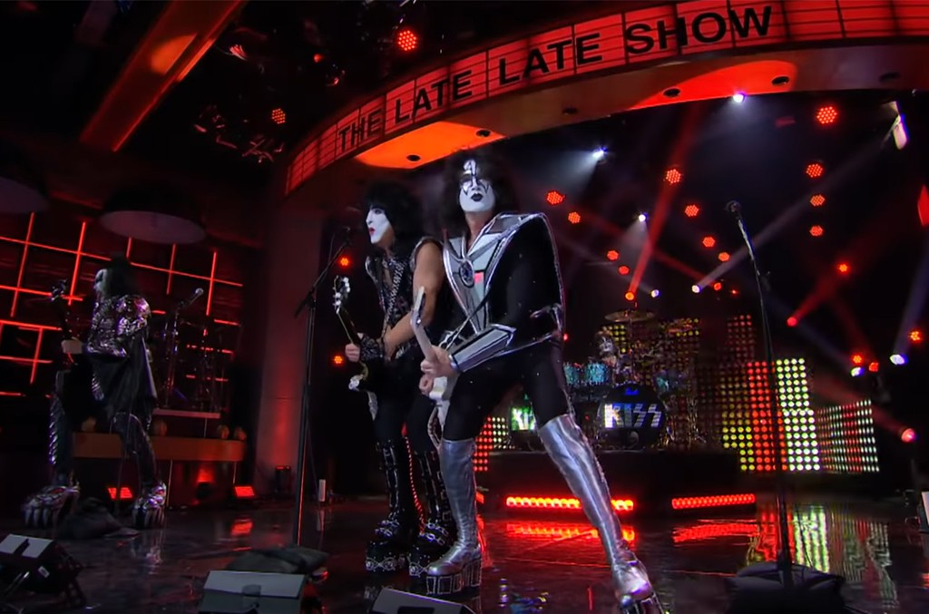 "KISS performs ""Shout It Out Loud"" on The Late Late Show with James Corden."