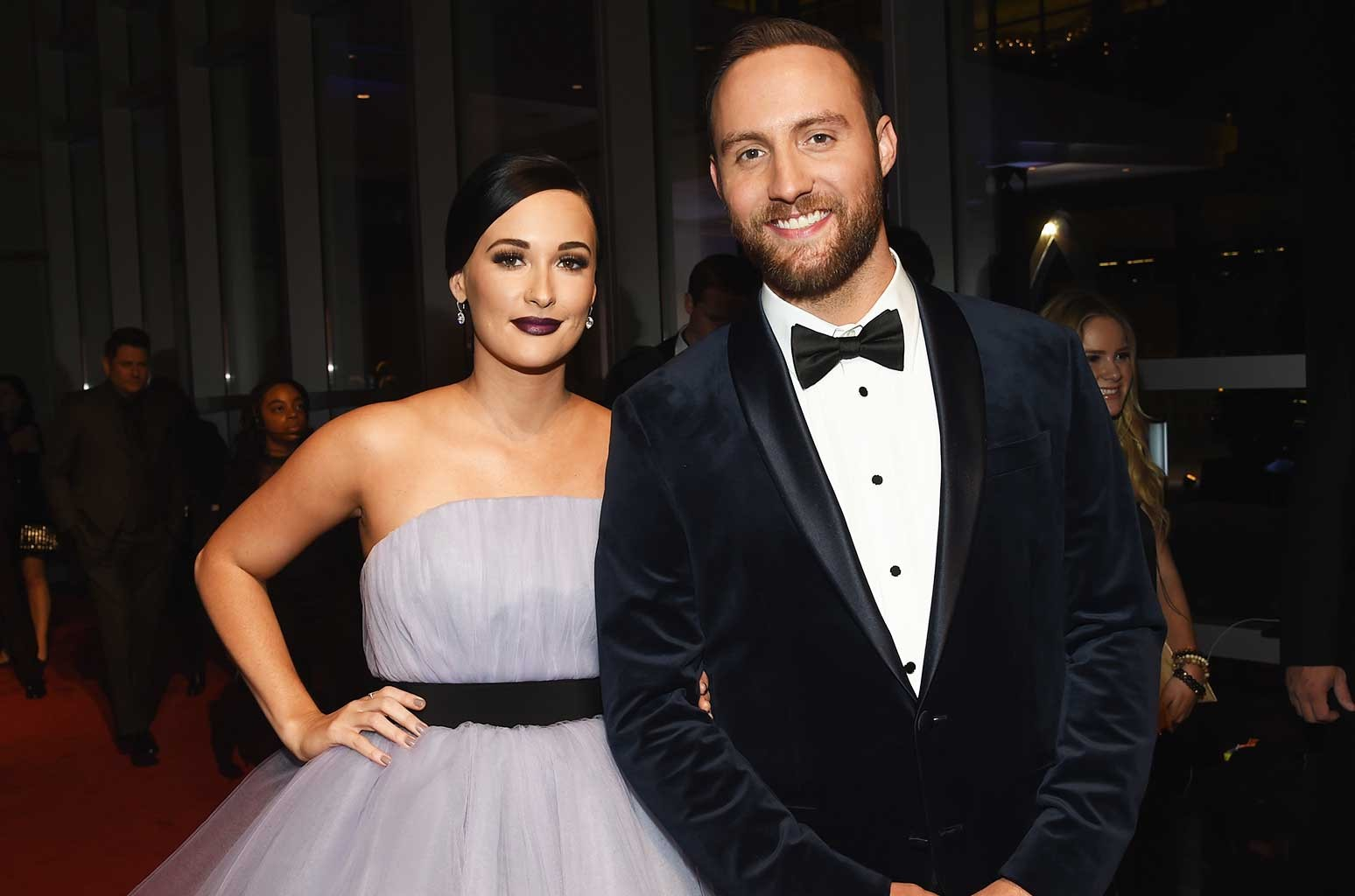 Kasey Musgraves and Ruston Kelly attend the 50th annual CMA Awards at the Bridgestone Arena on Nov. 2, 2016 in Nashville, Tenn.