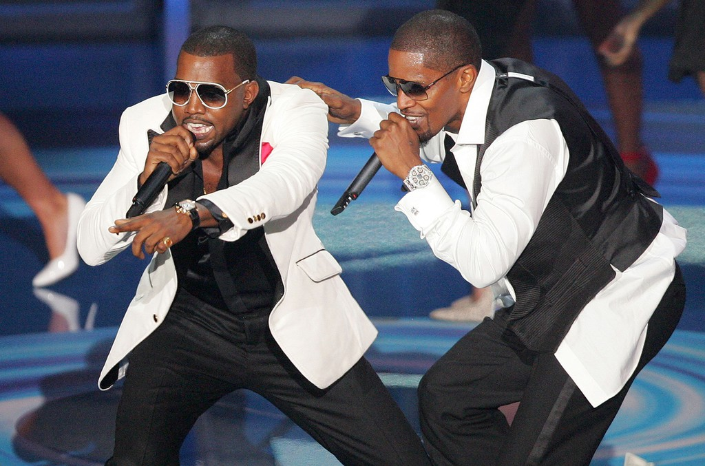 Kanye West and Jamie Foxx