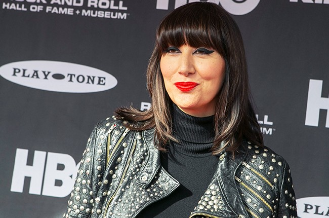 Karen O attends the 30th Annual Rock And Roll Hall Of Fame Induction Ceremony