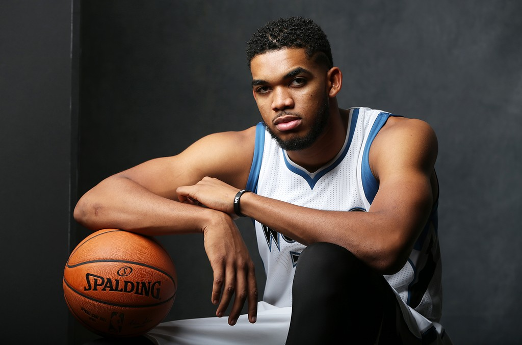 Karl-Anthony Towns of the Minnesota Timberwolves