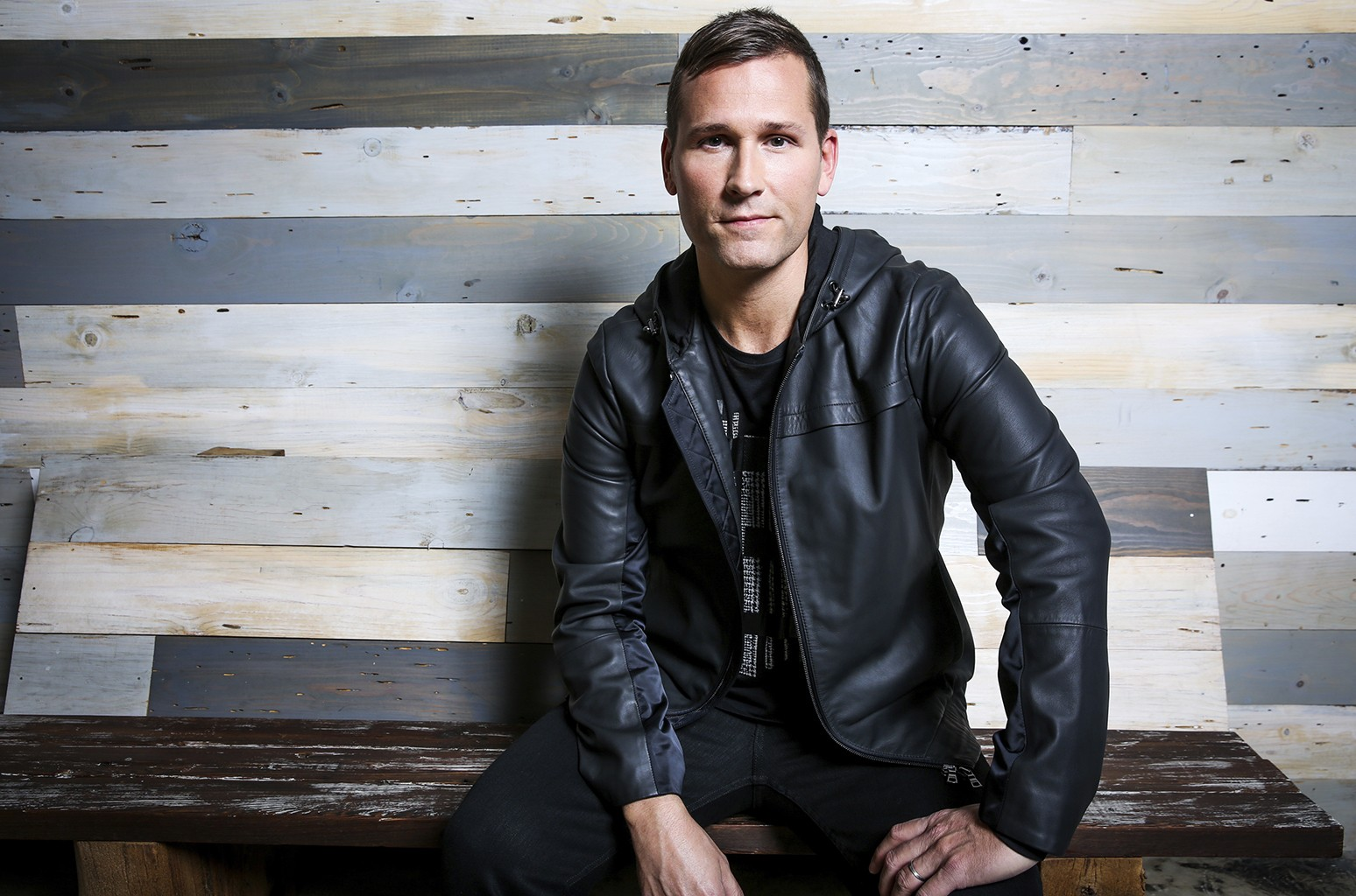 Kaskade photographed at Edge Studios in Los Angeles on Oct. 6, 2016.