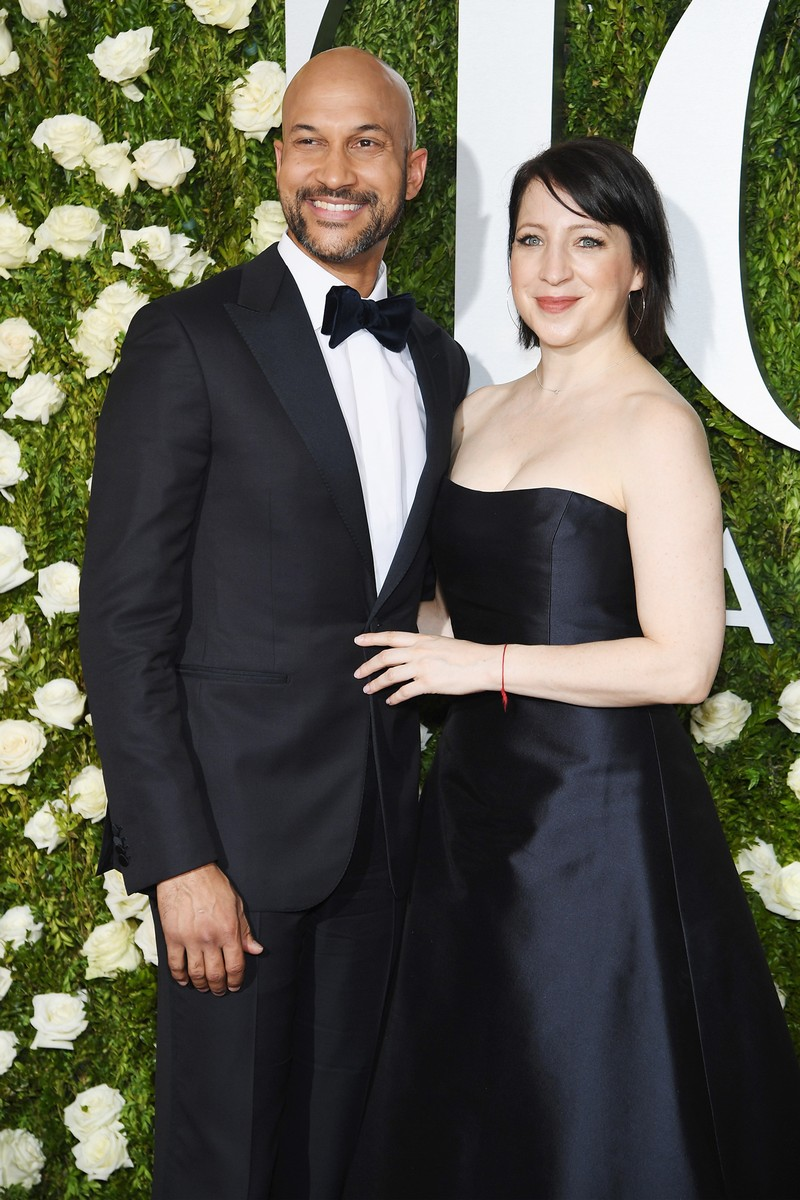 Keegan-Michael Key and Elisa Pugliese attend the 2017 Tony Awards at Radio City Music Hall on June 11, 2017 in New York City.