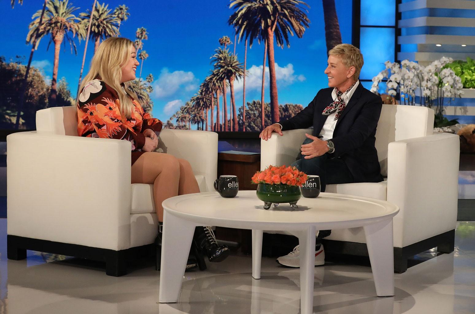 Kelly Clarkson on The Ellen DeGeneres Show on Sept. 16, 2019.