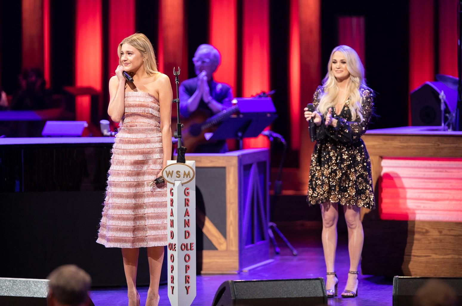 Kelsea Ballerini and Carrie Underwood