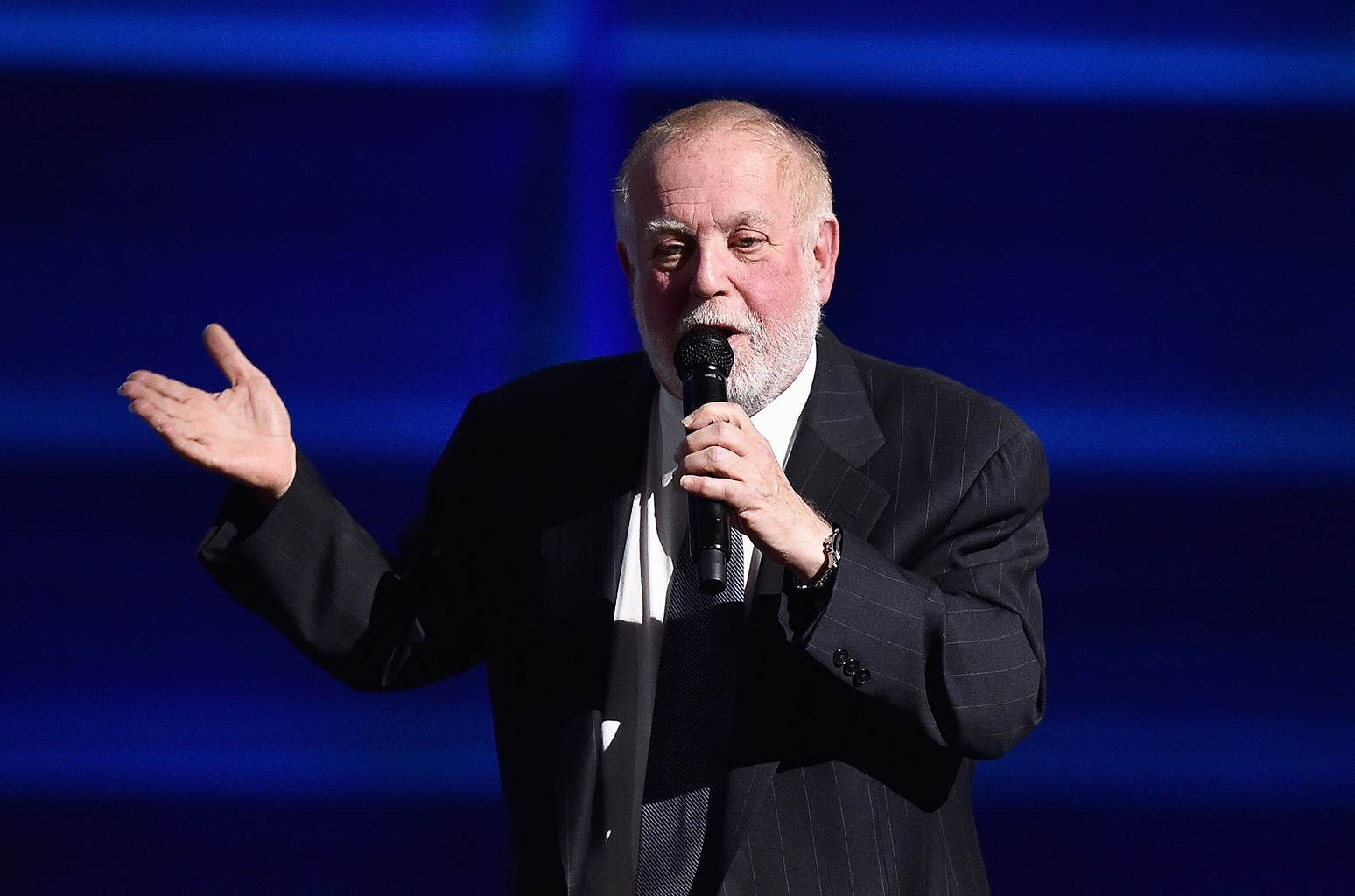 Ken Ehrlich speaks onstage during The 58th Grammy Awards at Staples Center on Feb. 15, 2016 in Los Angeles.